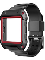 cheap -For Fitbit Blaze Watch Super Design Rugged Protective Case With Silicone Wrist Strap Bands