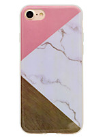 Para iPhone 8 iPhone 8 Plus Case Tampa IMD Estampada Capa Traseira Capinha Madeira Mármore Macia PUT para Apple iPhone 8 Plus iPhone 8