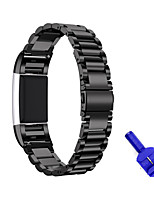 cheap -For Fitbit Charge 2 Replacement Watch Band Stainless Steel Bracelet Strap Tool