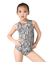 Ballet Leotards Women's Children's Performance Elastic Elastane Sequined Lycra Pattern/Print Paillette Sleeveless Natural Leotard