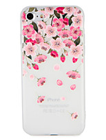 abordables -Coque Pour Apple iPhone 7 Plus iPhone 7 Motif Relief Coque Fleur Flexible TPU pour iPhone 7 Plus iPhone 7 iPhone 6s Plus iPhone 6s iPhone