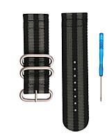 cheap -For Garmin Fenix 5X Fenix 3 Woven Nylon Bracelet Strap Watchband Replacement Wristband Tool 26mm