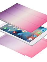 Pour apple ipad pro 10.5 ipad (2017) étui de boîtier étui à corps plein magnétique couleur unie couleur gradient dur cuir pu pour apple