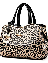 Women Bags All Seasons PU Tote Zipper for Casual Office & Career Black Beige