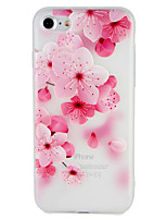 baratos -Capinha Para Apple iPhone 7 Plus iPhone 7 Estampada Com Relevo Capa traseira Flor Macia TPU para iPhone 7 Plus iPhone 7 iPhone 6s Plus