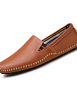 Men's Shoes Real Leather Spring Fall Comfort Loafers & Slip-Ons Gore For Casual Party & Evening Blue Brown Black
