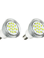 2pcs 5W E14 LED Spotlight E14/E12 16 leds SMD 5630 LED Lights White 380lm 3000-3500/6000-6500K AC 85-265V