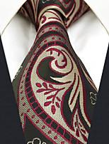 Men's Silk Neck Tie,Vintage Cute Party Work Casual Paisley All Seasons