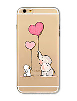 Case For Apple iPhone X iPhone 8 Plus Transparent Pattern Back Cover Balloon Elephant Cartoon Soft TPU for iPhone X iPhone 8 Plus iPhone