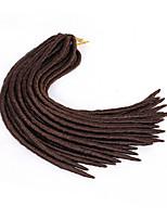 Dread Locks Hair Braid Crochet Crochet Faux Dreads synthetic hair Medium Brown Blue Burgundy Dark Wine Purple 18