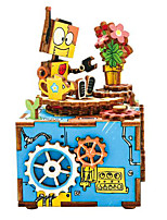 Jigsaw Puzzles DIY KIT Wooden Puzzles Building Blocks DIY Toys Cartoon Wooden