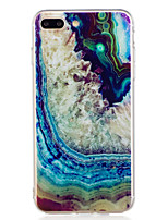 economico -Custodia Per Apple iPhone 7 Plus iPhone 7 Fantasia/disegno Per retro Effetto marmo Morbido TPU per iPhone 7 Plus iPhone 7 iPhone 6s Plus