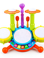 cheap -Drum Set Toy Instruments Educational Toy Toys Rechargeable Drum kit Plastics Pieces Kid Gift