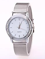 abordables -Mujer Reloj de Moda Chino Cuarzo Acero Inoxidable Banda Casual Plata