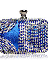Women Bags All Season PU Evening Bag Crystal Detailing for Event/Party Blue Gold Black Red Rainbow