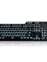 ajazz-ak35i 110keys conduit clavier mécanique rétro-éclairé avec 180cm câble bleu interrupteur
