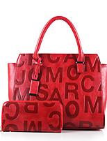 Damen Taschen Ganzjährig PU Bag Set Reißverschluss für Normal Formal Weiß Schwarz Rote Braun