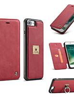 Per iPhone 8 iPhone 8 Plus Custodie cover Porta-carte di credito A portafoglio Supporto ad anello Con chiusura magnetica Integrale