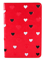 cheap -For Apple iPad (2017) Pro 9.7'' Case Cover with Stand Flip Pattern Auto Sleep Wake Up Full Body Case Heart Embroidery Hard PU Leather Air2 Mini1234