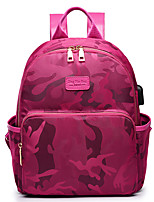 Women Bags All Seasons Nylon Backpack for Casual Sports Outdoor Office & Career Black Amethyst Fuchsia