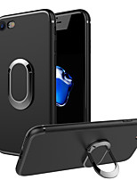 cheap -Case For Apple iPhone 7 Plus iPhone 7 Ring Holder Back Cover Solid Color Soft TPU for iPhone 7 Plus iPhone 7 iPhone 6s Plus iPhone 6s