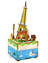 Jigsaw Puzzles DIY KIT Wooden Puzzles Building Blocks DIY Toys Famous buildings Cartoon Wooden Composite