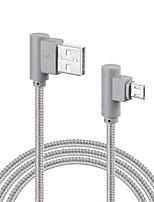 Micro USB Tressé Charge rapide Câble Pour Samsung Huawei Sony LG Lenovo Xiaomi cm Nylon