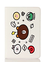 cheap -Case Cover for ipad 2017 air 2 air Flip Pattern Full Body Case Cartoon Little Bear Hard PU Leather for iPad 2.3.4 Mini 4 mini 3/2/1