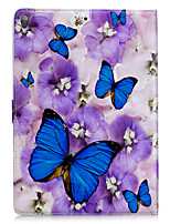 preiswerte -Für Apfel ipad 2 3 4 air2 pro 10.5 Fallabdeckung Schmetterlingsmuster PU-Material dreifaches flaches Computeroberteil Telefonkasten