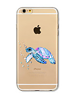 Capinha Para Apple iPhone X iPhone 8 Plus Transparente Estampada Capa Traseira Animal Macia TPU para iPhone X iPhone 8 Plus iPhone 8