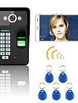 720p sem fio wifi rfid senha reconhecimento de impressão digital porta porta porta do telefone sistema de intercomunicação visão noturna