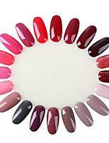 10Pc 20 Display Wheel Nail Polish UV Gel Color Show Card Template Salon Practice Natural False Nail Tips
