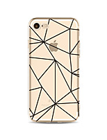 Capinha Para Apple iPhone X iPhone 8 Plus Transparente Estampada Capa Traseira Estampa Geométrica Macia TPU para iPhone X iPhone 8 Plus