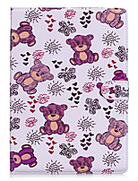 cheap -For Apple Ipad 2 3 4 Air2 Pro 10.5 Case Cover Bear Pattern PU Material Three Fold Flat Computer Shell Phone Case