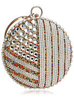 Women Bags All Season PU Evening Bag Crystal Detailing for Event/Party Blue Gold Black Silver Red