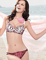 KNF Lady's Lovely Bra Sets Comfortable Girl's Bra Sets Brassiere Underwear. Bra Set. Thin A-Cup. One Hook-And-Eye