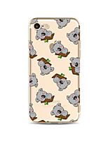 abordables -Coque Pour Apple iPhone X iPhone 8 Plus Transparente Motif Coque Carreau vernisé Bande dessinée Animal Flexible TPU pour iPhone X iPhone