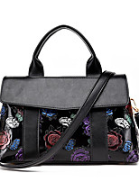 Women Bags All Seasons PU Tote Split Joint for Wedding Event/Party Casual Formal Office & Career Black