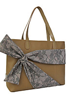 Women Bags All Seasons Cowhide Shoulder Bag Bow(s) for Casual Camel