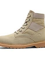 Для женщин Ботинки Армейские ботинки Осень Зима Дерматин Повседневные Черный Серый Хаки 2,5 - 4,5 см