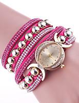 Per donna Orologio alla moda Orologio braccialetto Cinese Quarzo Pelle Banda classe Nero Bianco Blu Rosso Marrone Rosa Viola Blu marina