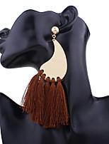 Per donna Orecchini a goccia Orecchini a cerchio Orecchini Set Geometrico Tasselli Vintage Personalizzato Fatto a mano Bling Bling Lega