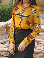 Women's Casual/Daily Simple Shirt,Floral Shirt Collar Long Sleeves Others