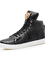 Da uomo Sneakers Comoda Primavera Autunno Di pelle Microfibra Sportivo Casual Lacci Piatto Bianco Nero Piatto