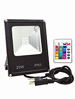 AC85-265V IP65 Waterproof 30W Remote Control Color RGB Colorful Outdoor Light LED Floodlight 1Pc