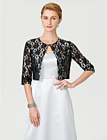Half Sleeves Lace Wedding Party / Evening Women's Wrap With Buckle Lace Shrugs