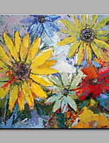 Big Size Hand-Painted Sunflower Flowers Modern Art One Panel Canvas Oil Painting for Home Decoration Unframed