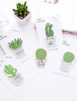 1 pc Kaktus Selbstklebe Notizen 30 Seite (zufällige Farbe)