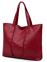 Women Bags All Seasons PU Tote Zipper for Casual Office & Career Black Red Gray