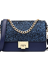 Women Bags All Seasons PU Shoulder Bag for Event/Party Casual Formal Outdoor Office & Career Blue Black Blushing Pink